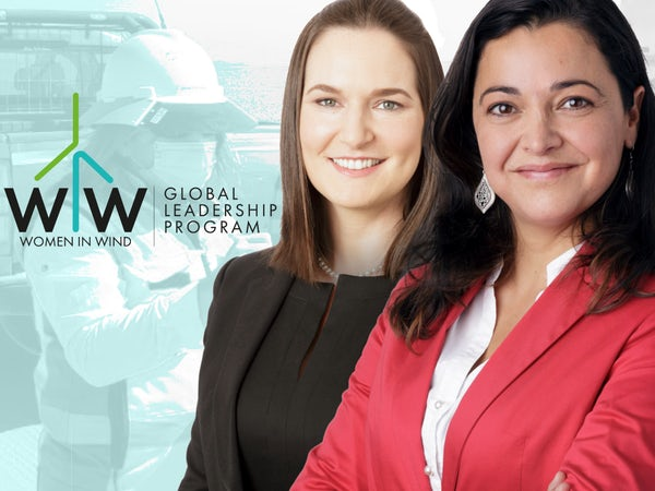Mentor and mentee for Women in Wind Leadership Program