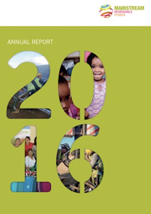 MAINSTREAM ANNUAL REPORTS & ACCOUNTS