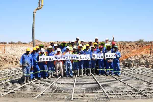 Khobab wind farm completes foundations on schedule
