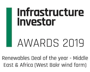 Renewables Deal of the Year - Middle  East and Africa (West Bakr wind - 252 MW)