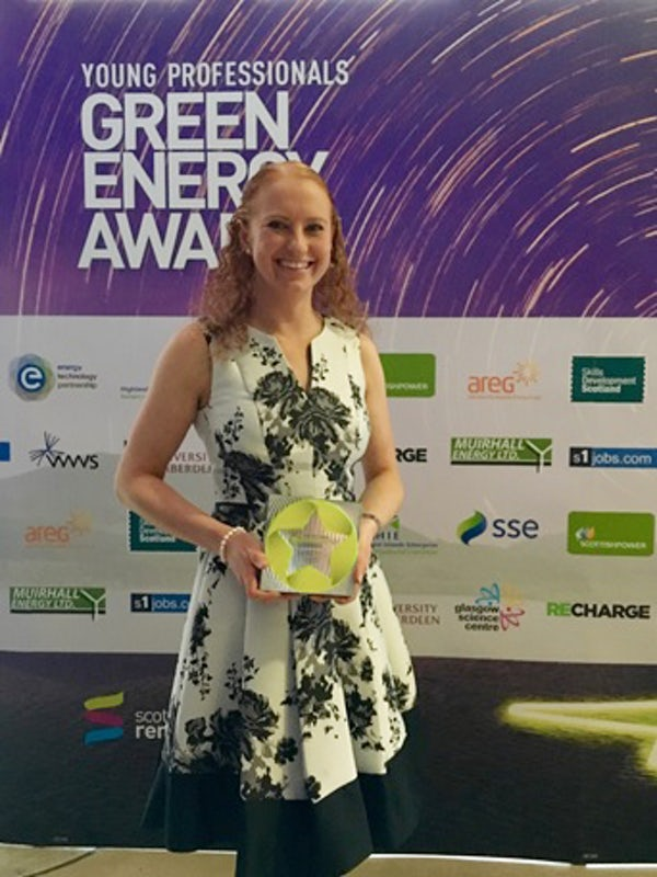 Mainstream's Rosie Scurr wins Achiever Award at Scottish Renewables Awards