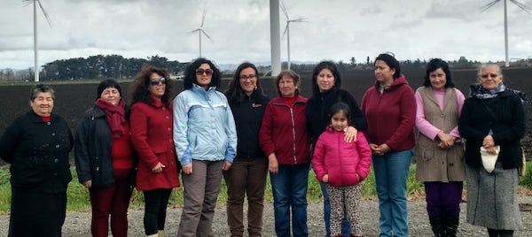 Communities of Alena Wind Farm Project Visit Cuel Wind Farm in Chile