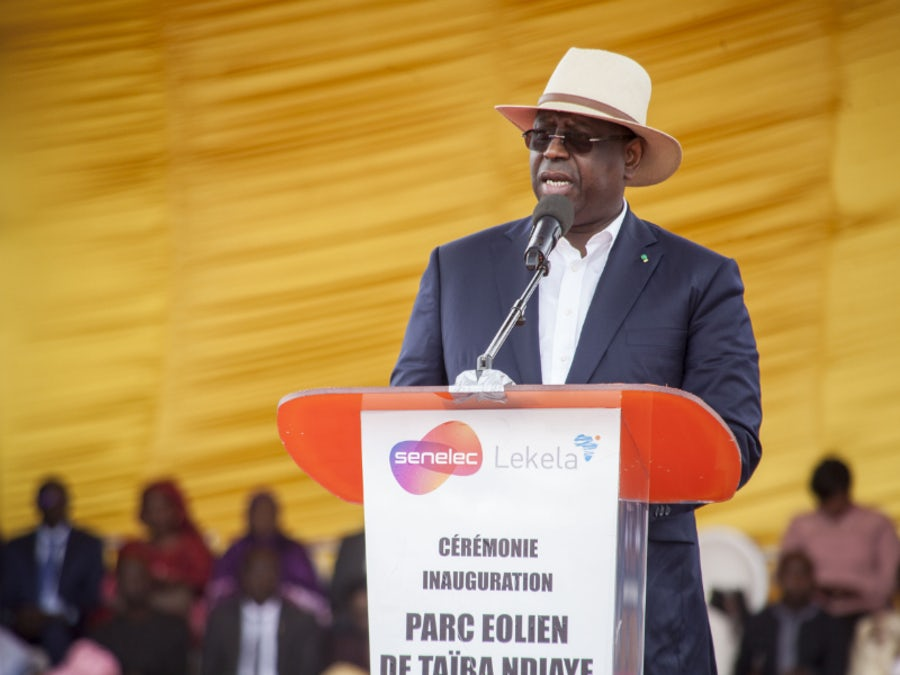President marks wind farm milestone in Senegal clean energy drive
