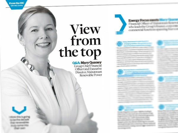 View from the Top: Mary Quaney talks to Energy Focus magazine