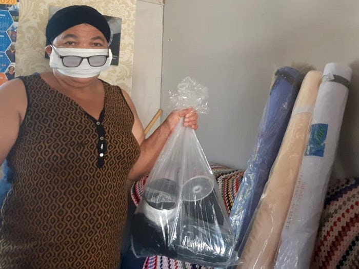 Sewing enthusiast helping to keep key workers safe