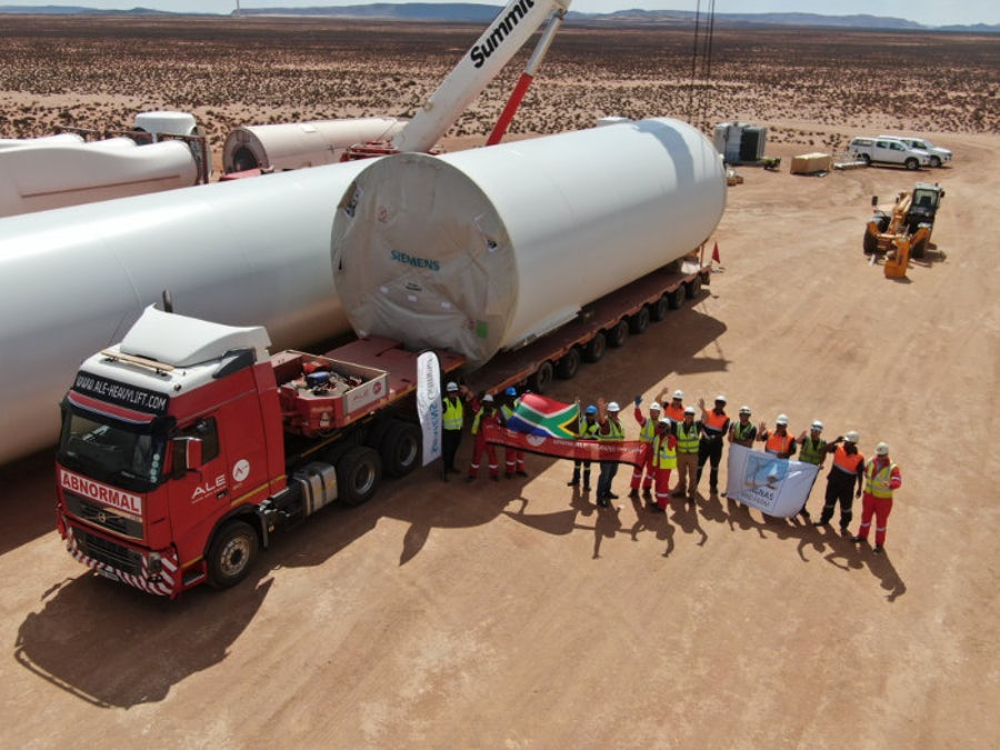 Final turbines arrive at wind farms after 1,090 shipments