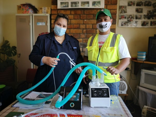 Patients surviving Covid with health programme's breathing aids