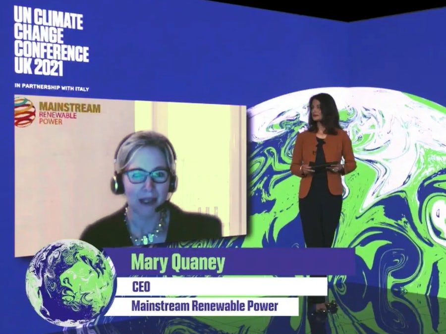 Mary Quaney sets out 'must haves' for energy transition at COP26 event