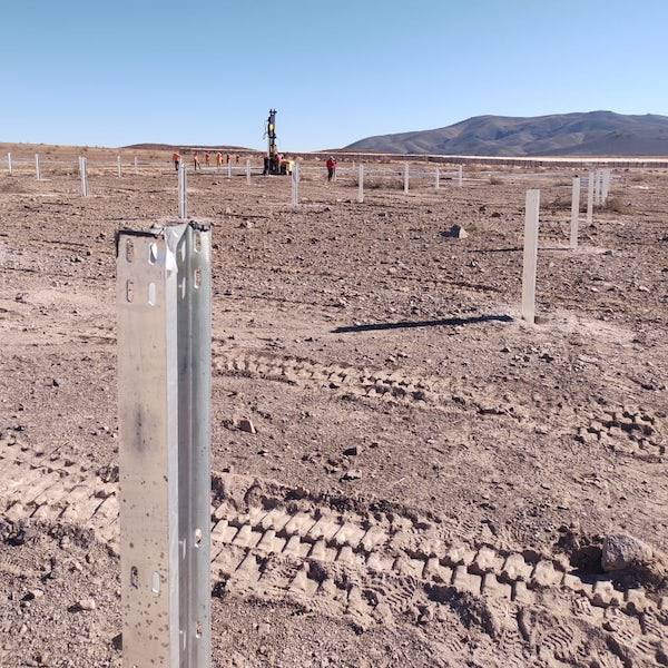 Mainstream's first Chilean solar farm ready for PV panels