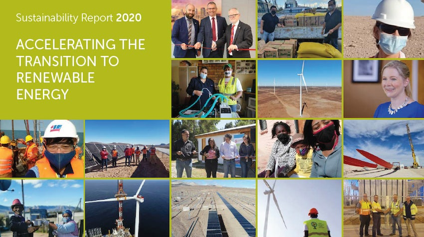 Click to open Sustainability Report pdf