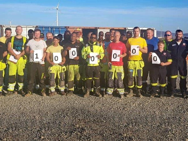 Safety milestone for one million hours wind farm build