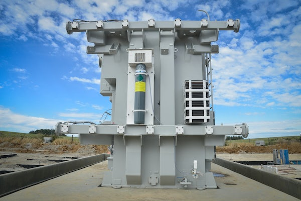 Aurora wind farm in southern Chile receives power transformer