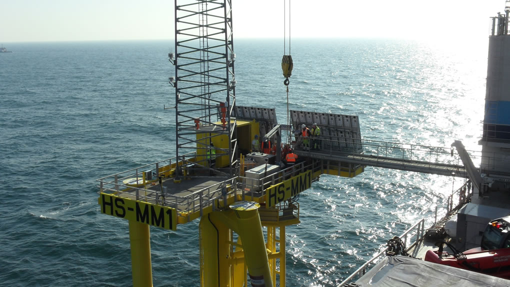 Installation of the first meteorological mast in the 4GW Hornsea Zone using the 'Twisted Jacket' foundation.